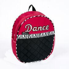 Girls Dance Backpack Bag  Fuchsia Zebra Stripe