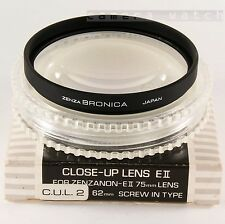 BRONICA 62 mm Close Up c.u.l. -2 pour Zenzanon 40 50 75 105 150 200 ETR Si ETRS etc