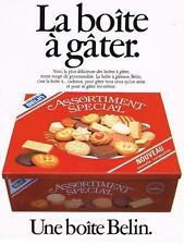 PUBLICITE ADVERTISING   1982    BELIN  biscuits gateaux assortiment spécial