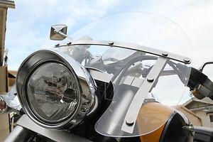 "Honda VTX 1300 VTX1800 VT750 VT1100 Shadow Rebel Windshield 23.5""x21"" - CLEAR"
