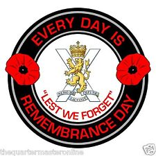 Royal Regiment Of Scotland Remembrance Day Inside Car Window Clear Cling Sticker