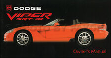 2003 Dodge Viper SRT-10 Owners Manual Original OEM SRT10 New NOS
