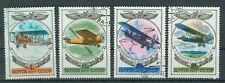 Russland Briefmarken 1977 Geschichte des Flugzeugbaus Mi.4621-23+25 gestempelt