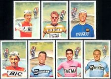 Manama 1969 Cycling/Cyclists/Sports/Riders/Bicycles/Bikes/People 7v set (b7495a)