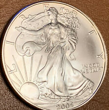 2005 1 oz Silver American Eagle GEM Brilliant Uncirculated