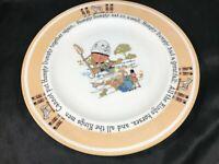 "The Shelley Nursery China Humpty Dumpty Porcelain 8-3/4"" Plate"