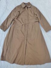 WOMENS CAROL COHEN BRAETAN LINED LONG COAT TRENCHCOAT SIZE 11/MEDIUM #W2817