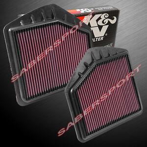 Two(2) K&N Hi-Flow Air Intake Filters for 2015-2018 Genesis G80 G90 5.0L 3.3L