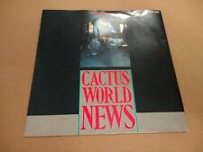 """CACTUS WORLD NEWS """" YEARS LATER """" 7"""" INDIE ROCK SINGLE P/S EX/EX 1986"""