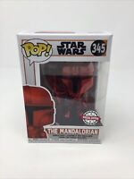 Funko Pop! Vinyl Star Wars The Mandalorian Red Chrome + Pop Protector