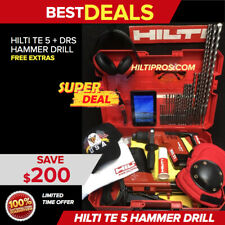 Hilti Te 5 Hammer Drill With Dust Removal System Free Tablet Extras Fast Ship