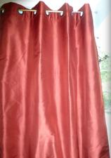POTTERY BARN Burgundy GROMMET 100% SILK Curtain Drape Panel * 4 Available *