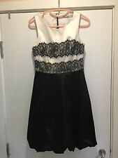 Karen Millen Satin Lace Dress Size 10