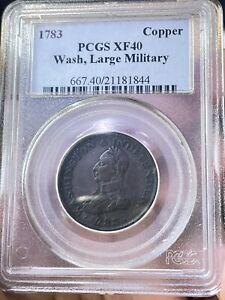 "1783 Washington Military Large Bust ""copper"" XF40"