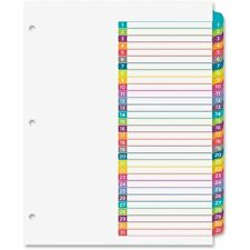 """Avery Ready Index Table Of Contents Dividers, Multicolor Tabs, 1-31, Letter"""