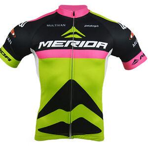 Merida Challenger Team Cycling Clothes Top Mens Cycling Biking Jersey Reflective