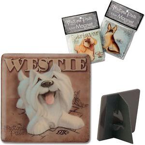 My Pedigree Pals Westie West Highland Terrier Fridge Magnet Dog Lovers Gift