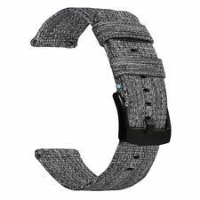 Samsung Gear S3 Classic/Frontier-Galaxy Watch 46mm Band Canvas Nylon Sport Gray