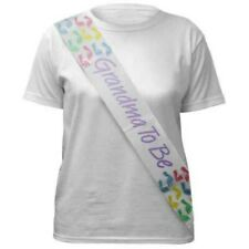 Grandma to Be Sash to wear at Baby Shower - Baby Footprints Theme (#1051)
