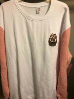 New Sushi Sweatshirt Pusheen Box 2020 Woman's 3XL Pink White Same Day Ship