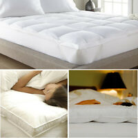 4 Inch Luxury Mattress Topper Deep Bed Soft Like Down Protector Under Blanket