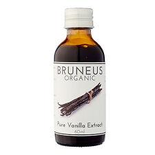Bruneus Pure Vanilla Extract USDA Organic, Kosher, Gluten & Allergen Free (60ml)