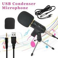 USB PC Condenser Recording Microphone Vocal Singing Mic Stand Podcast Studio