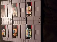 6 pre owned super nintendo games off road, football, monopoly, black bass, winte