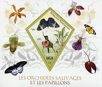 Madagascar 2015 MNH Butterflies & Orchids 1v SS Insects Butterfly Flowers Stamps