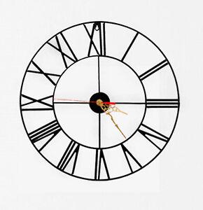Wall Clock Modern Australian Made Glossy Roman Numbers Alpha Design Art Clock