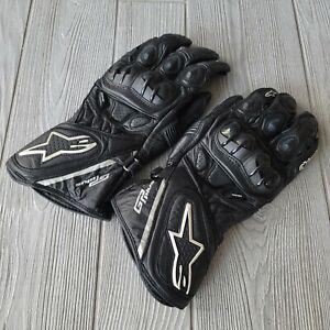 Alpinestars GP Plus XL Motorcycle Motocross Gloves Black White Armor
