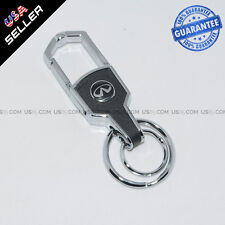 Car Logo Infiniti Emblem Key Chain Metal Alloy Leather Birthday Gift Decoration