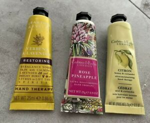 Crabtree & Evelyn VERBENA & LAVENDER, ROSE PINEAPPLE, CITRON HAND THERAPY LOT 3