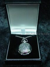 Celtic knot filigree womens pewter pendant watch make in UK engravable