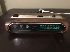 Vintage Panasonic Rc 6236 Flip Alarm Clock Am Fm Weather Radio Works