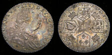 1787 Great Britain George III 1760-1820 Silver Sixpence Hearts S-3749 Toned 6318