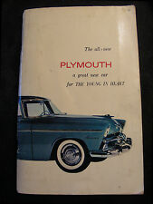1950's Chrysler Plymouth Owner Service Manual Book with Fold Out Certificate