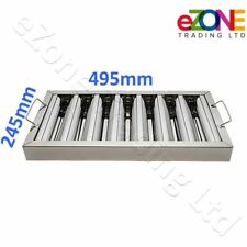 More details for canopy grease baffle filter stainless steel kitchen extraction hood 495x245mm