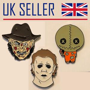 Horror Movie Pin/Badge - Halloween, Michael, Freddy,, Trick r Treat, Hellraiser