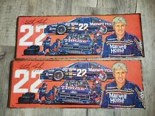 2 Vintage Sterling Marlin Maxwell House Nascar #22 Ford Thunderbird Tin Signs!