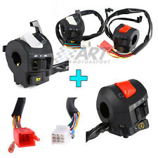 2 Interruptores para manillar de moto 22mm luces intermitentes claxón encendido