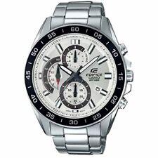 Men's Casio Edifice Chronograph Stainless Steel Watch EFV-550D-7AV $99 MSRP BNWT