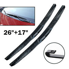 Pair Windscreen Wiper Blades Front Window Fit For Odyssey Forester 26'' 17''