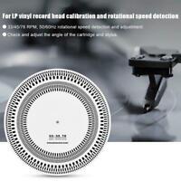 LP Vinyl Record Player Turntables Phono Tachometer Calibration Disc Stroboscope