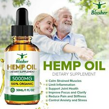 Hemp Natural Pain Relief Oil High Strength 5000mg Natural Sleep Aid Anxiety