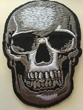 "3D Skull Iron/Sew on Embroidered Patch Applique Badge 2.5""X3.5"""