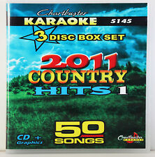Karaoke CDG 3 Disc Box Set 5145 Chartbuster 2011 Country Hits vol-1 w/ Song List