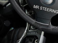 Para 2005+ Mazda MX5 3 Miata verdadero Cubierta del Volante Cuero Gris doble puntada
