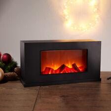 LED Lanterne Cheminée Fireplace Décoration de Table Batterie Noir Flammeneffekt