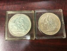 1951 Great Britain 5 Shillings Crown 2 coins lot Excellent condition